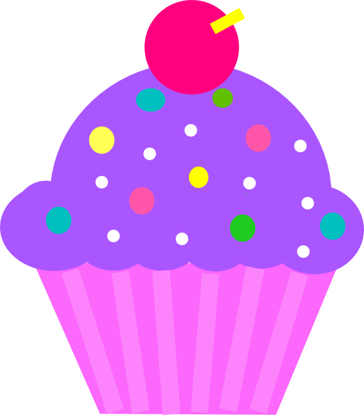 cupcakes clipart colored cupcake