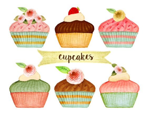 Desserts clipart tea party. Cupcake bakery cakes hand