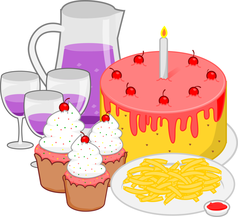 Desserts clipart tea party. Fast food pizza snack