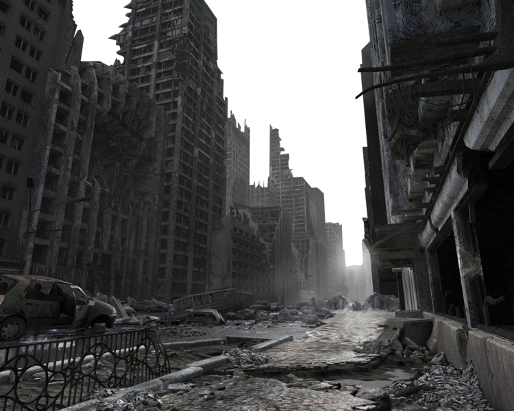 Destroyed city png. Ftestickers background urban building