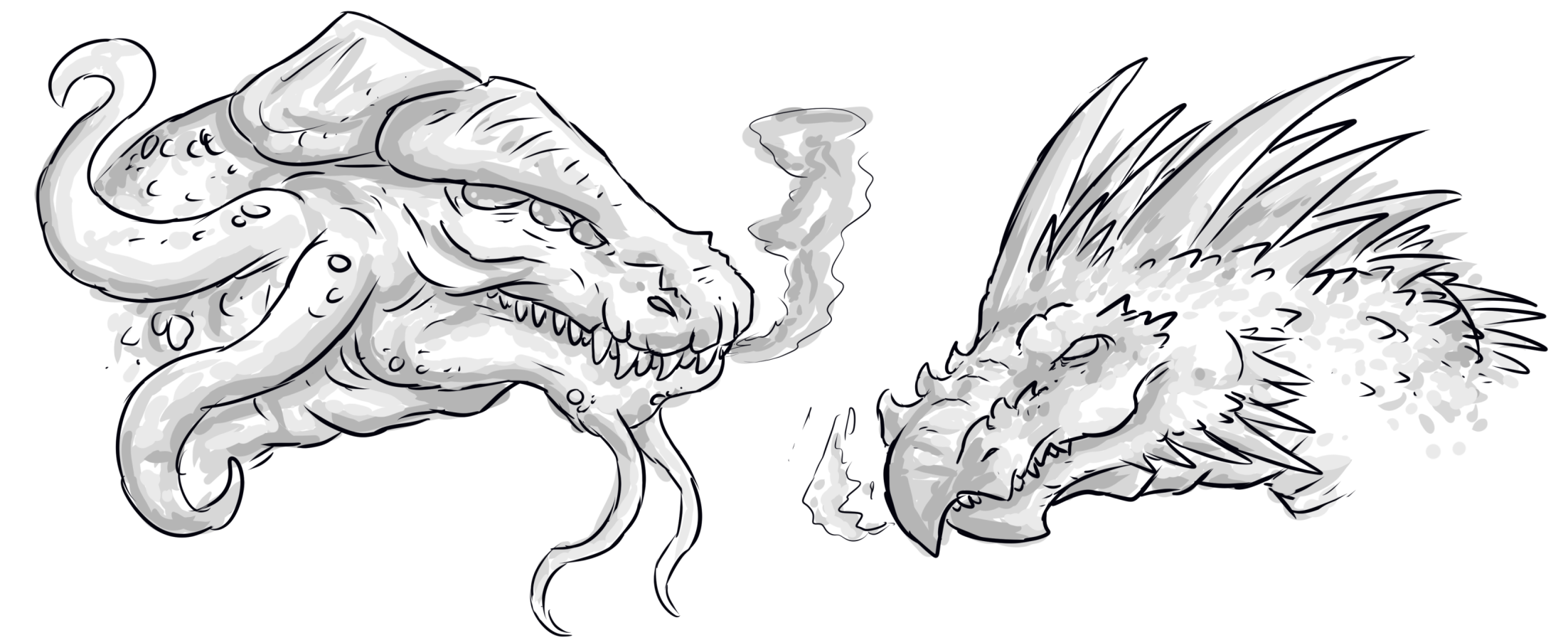 Destruction drawing. Ur weekly prompt dragon