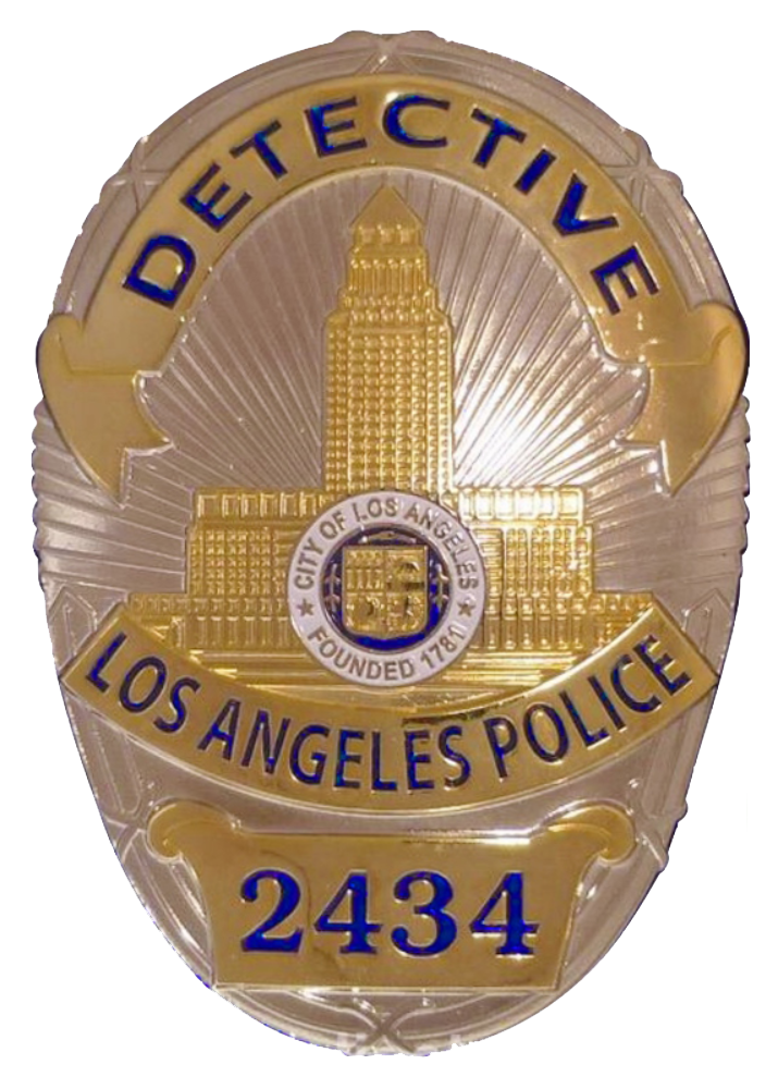 Detective badge png. File of a los