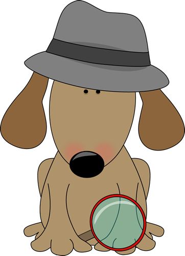 Mystery clipart creative clip. Detective art images dog