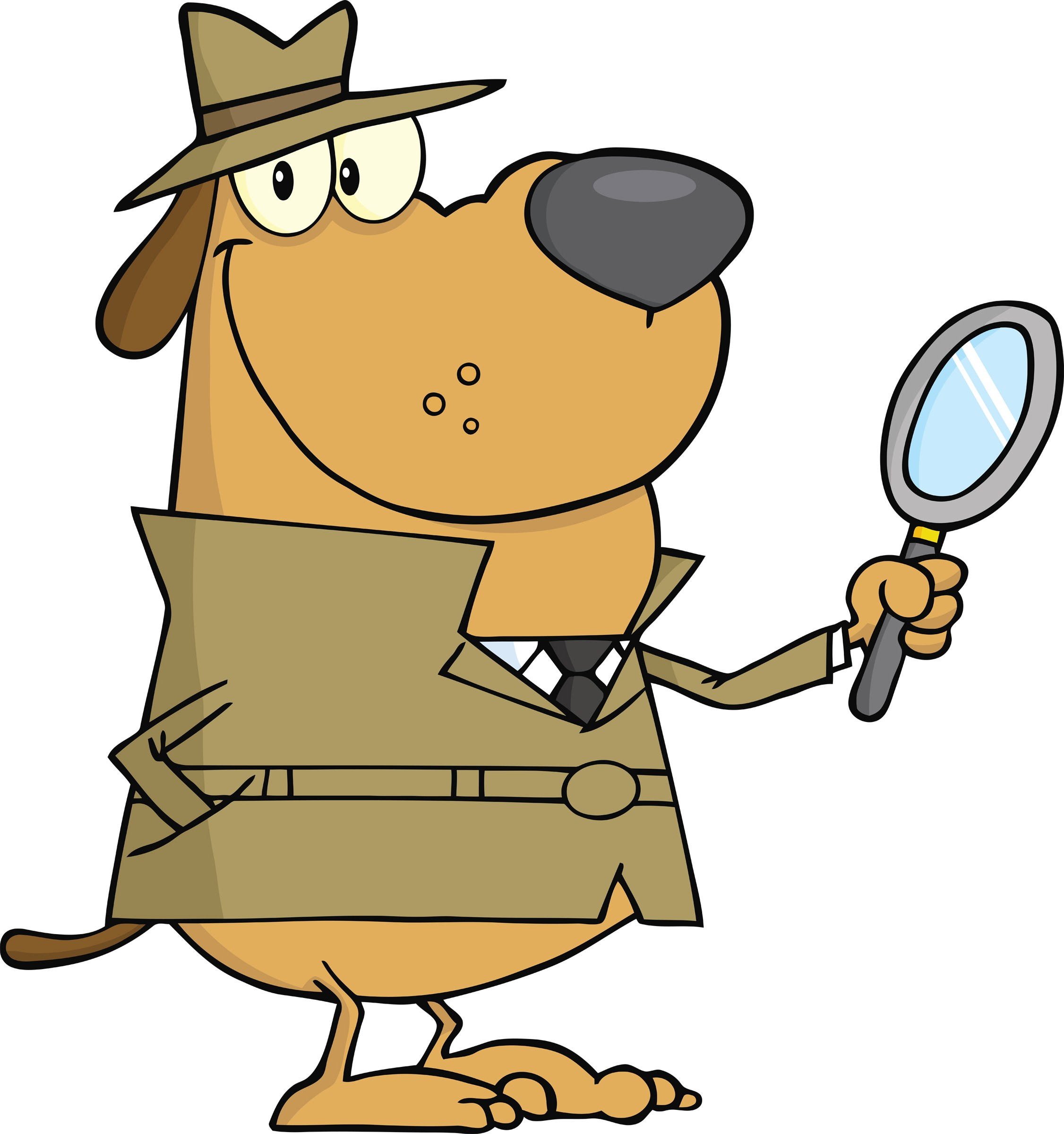 Mystery clipart cartoon. Detective silhouette clip art
