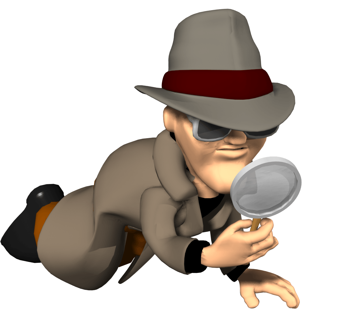 Partners clip arts for. Detective clipart image black and white stock