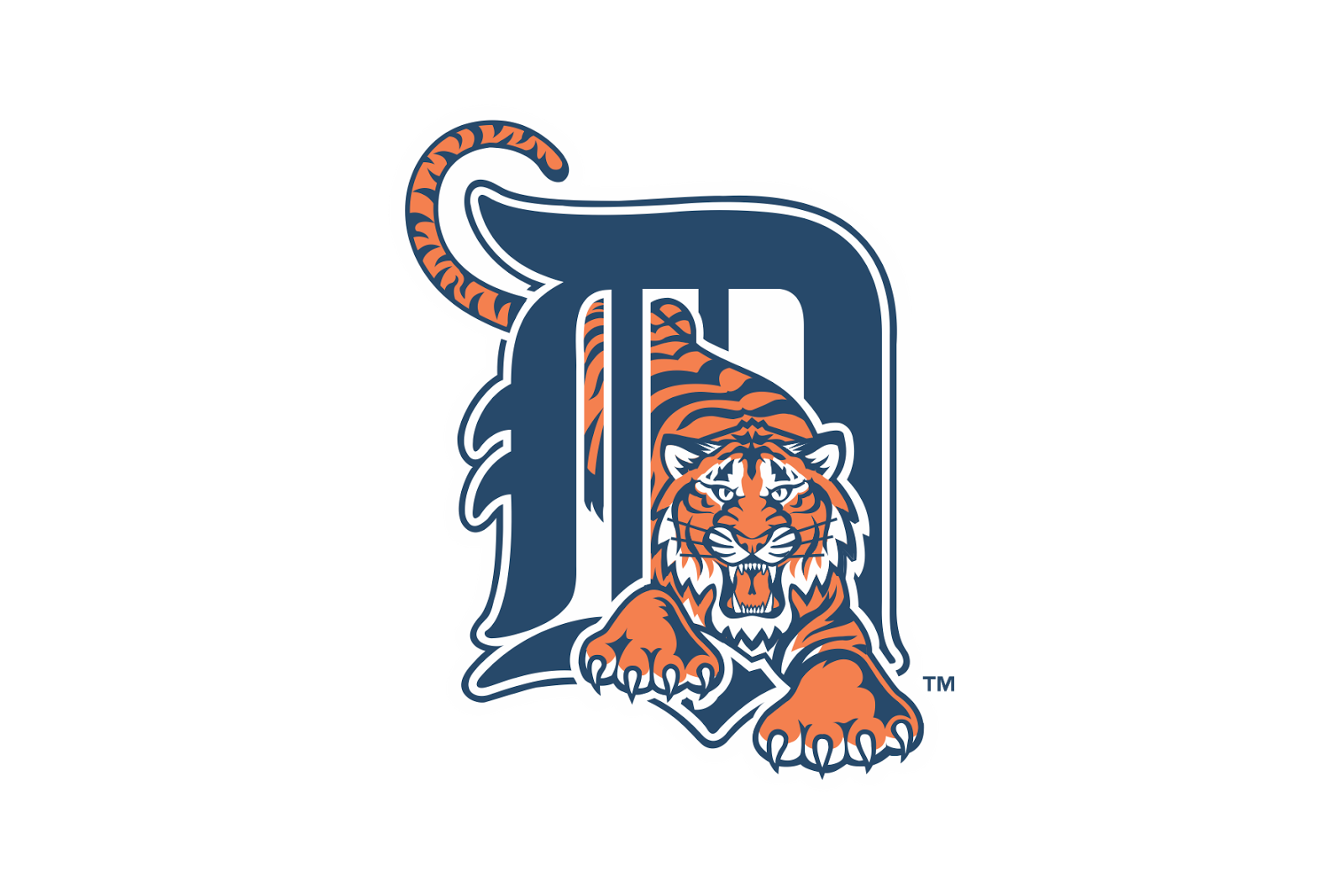 Detroit tigers logo png. Vector