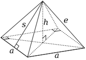 Development drawing pyramid. Square definition properties video