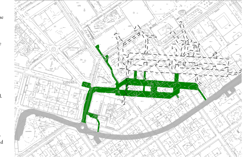 Development drawing urban. Example of the city