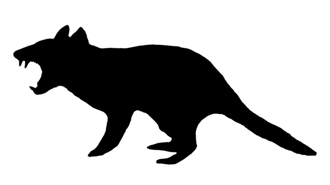 Devil clipart silhouette. Tasmanian at getdrawings com