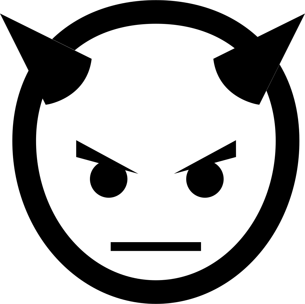 Devil head png. With horns svg icon
