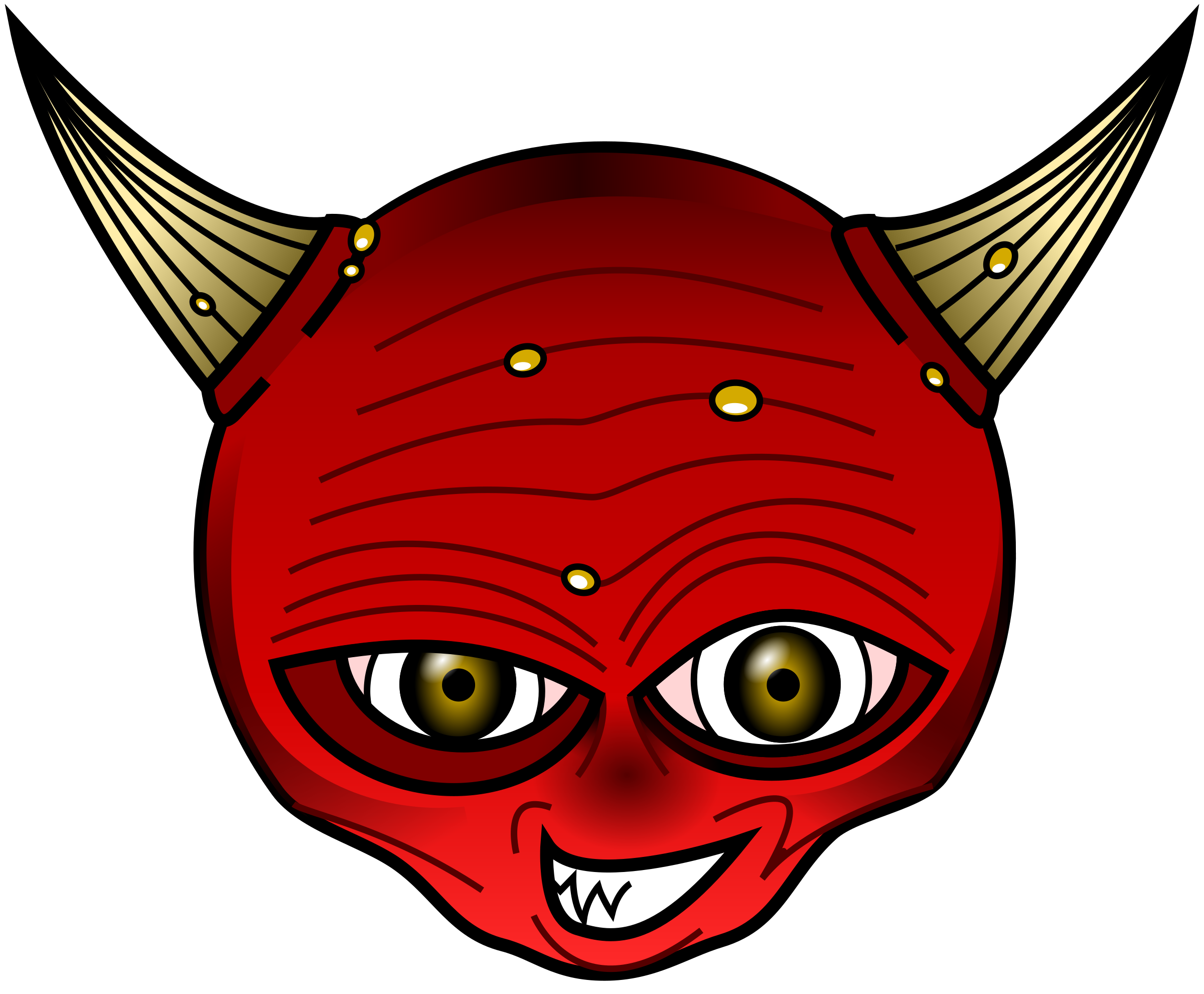 Devil head png. Red icons free and