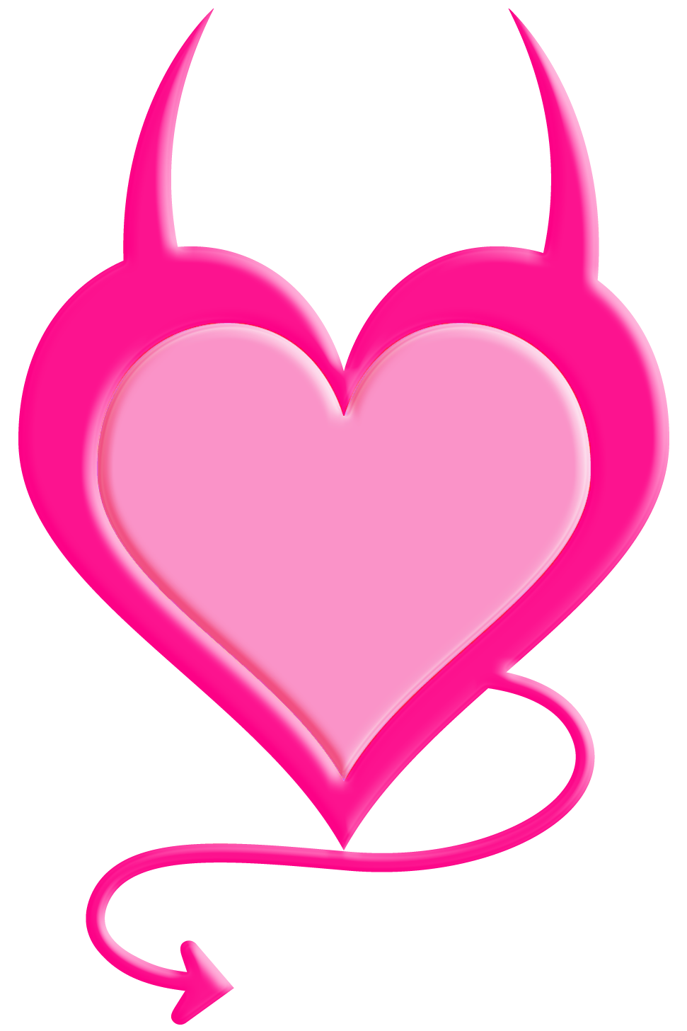 Devil heart png. Transparent pink picture gallery