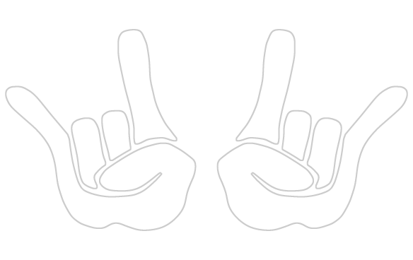 devil horns hand png