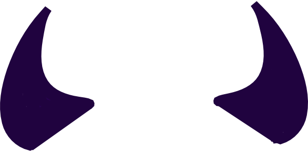 Devil horns png. Purple clip art at