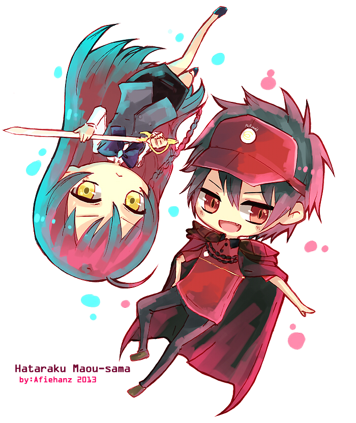 Devil is a part timer png. Hataraku maou sama images