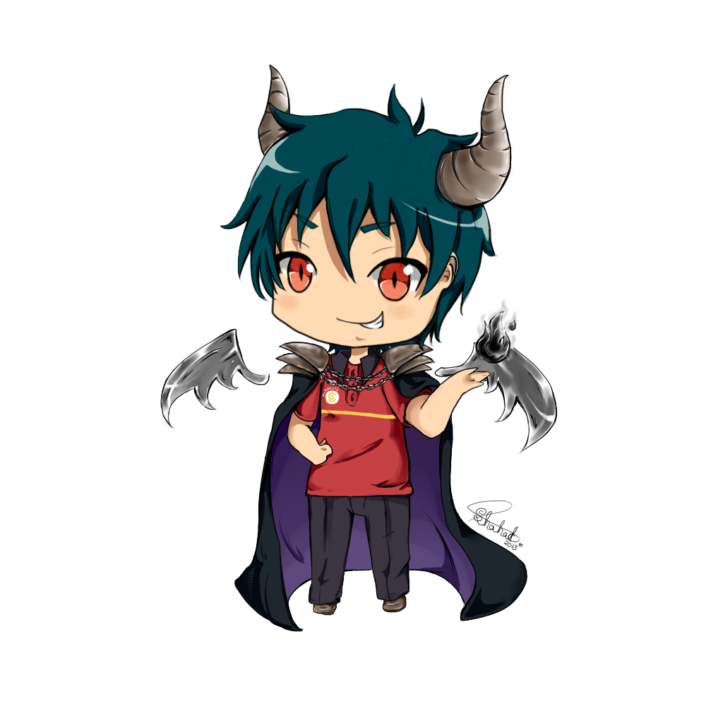 Devil is a part timer png. Maou sama by bloomingshosho
