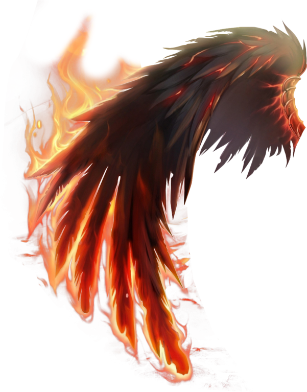 Devil wing png. Fire sticker by andrea