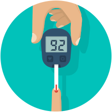Diabetes clipart blood glucose monitoring. Beat step by free