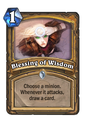 Diablo drawing 1. Blessing of wisdom hearthstone