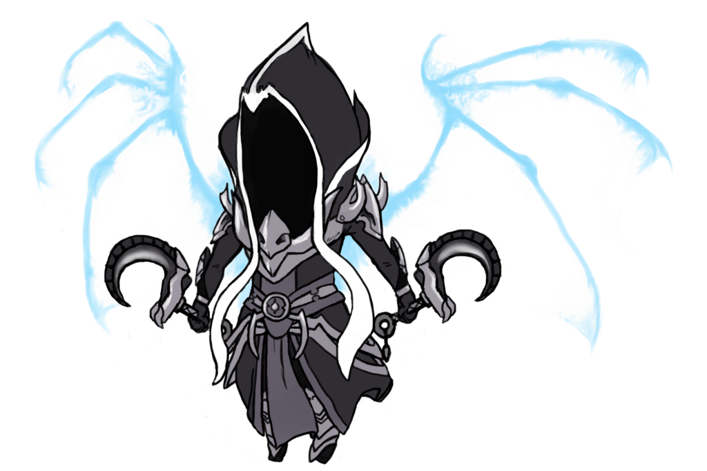 Diablo drawing 1. Malthael by mastela on