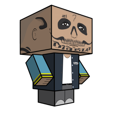 Diablo drawing deadshot. El paper toy free