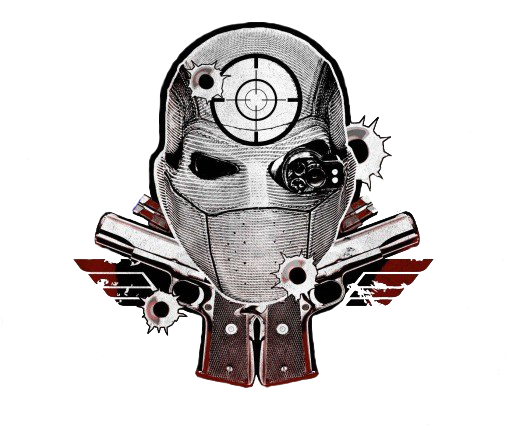 Diablo drawing deadshot. Suicide squad logo by