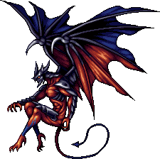 Diablo drawing diabolo. Diabolos final fantasy vi