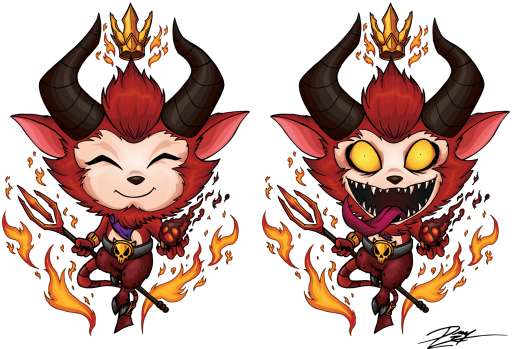 Diablo drawing 1. Little devil teemo by