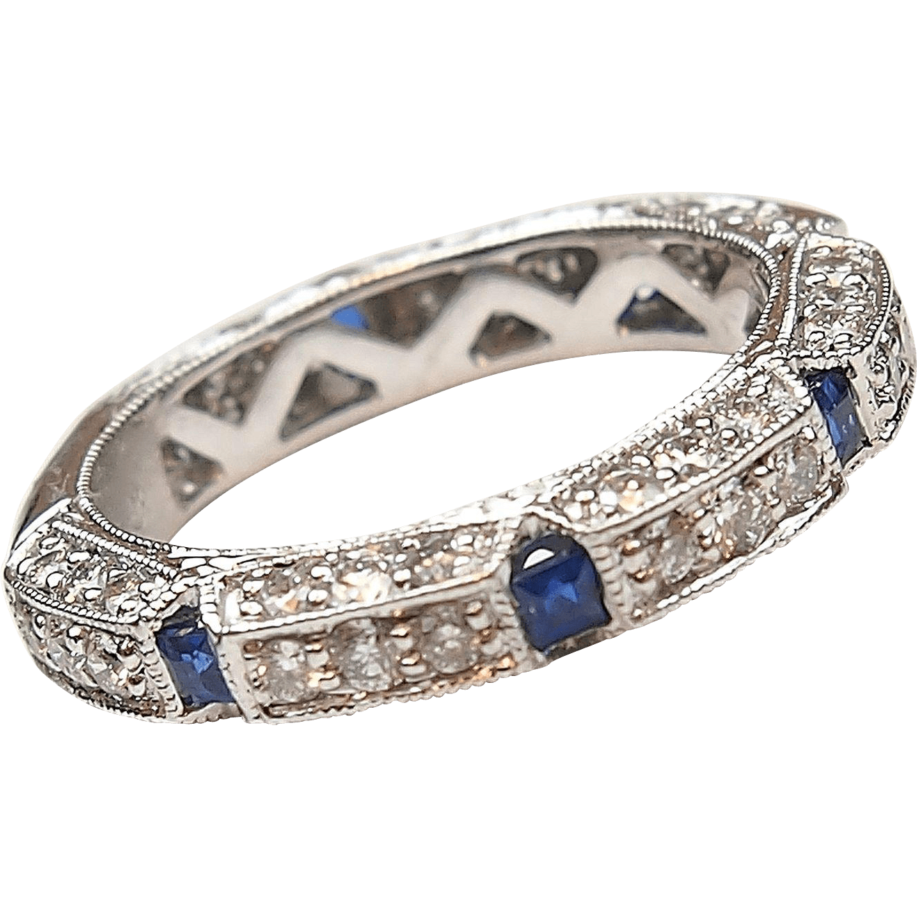ctw sapphire and. Diamond band png svg free stock