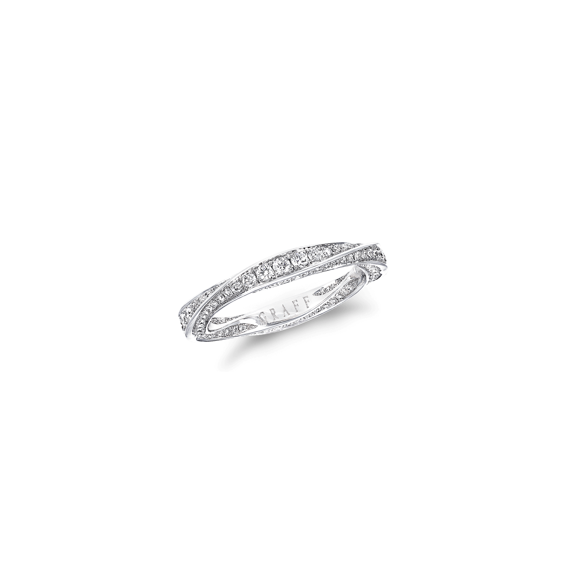 Diamond band png. Spiral white gold graff