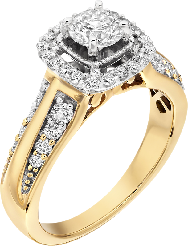 Diamond band png. Soft square halo ring