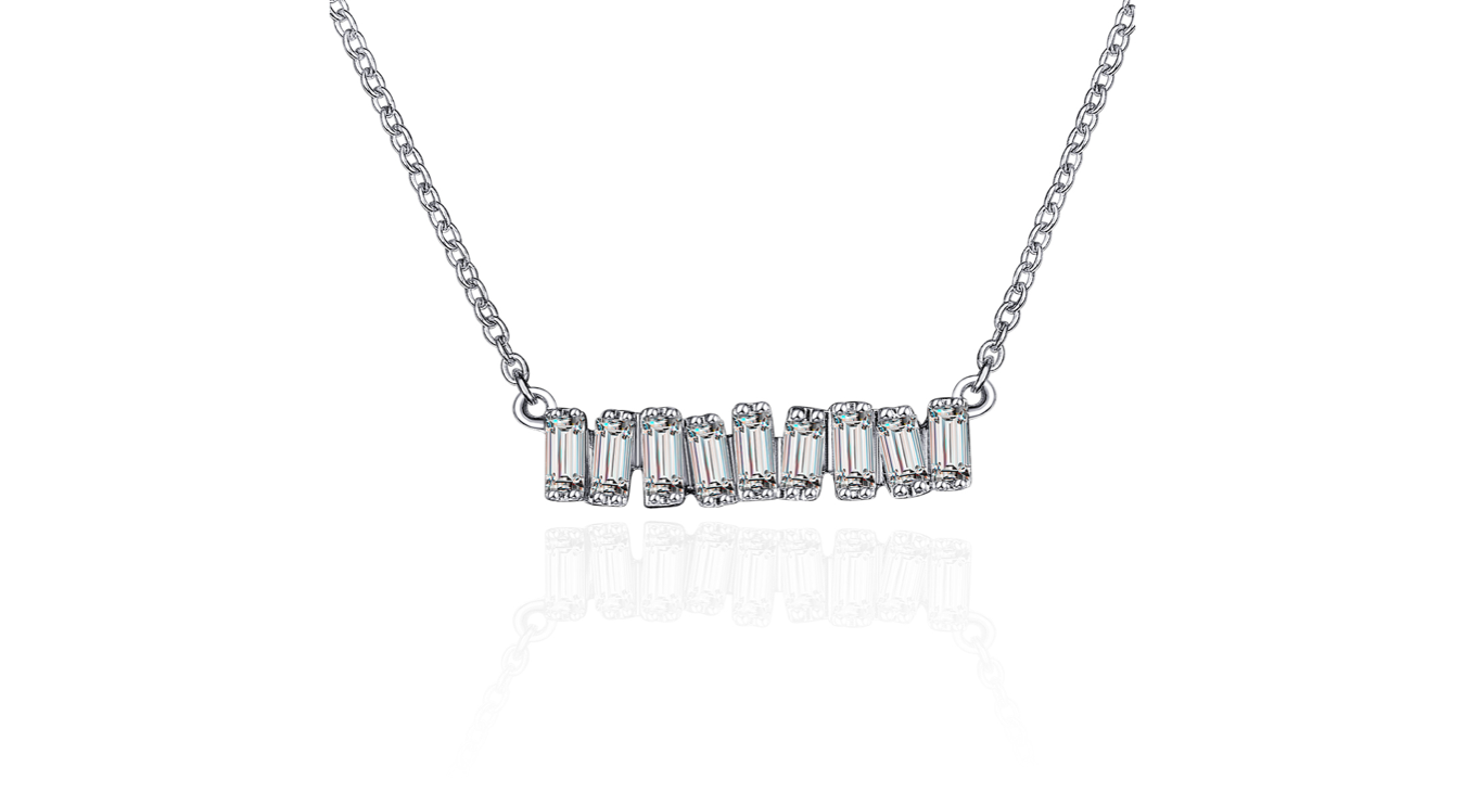 Diamond bar png. Love necklace white gold