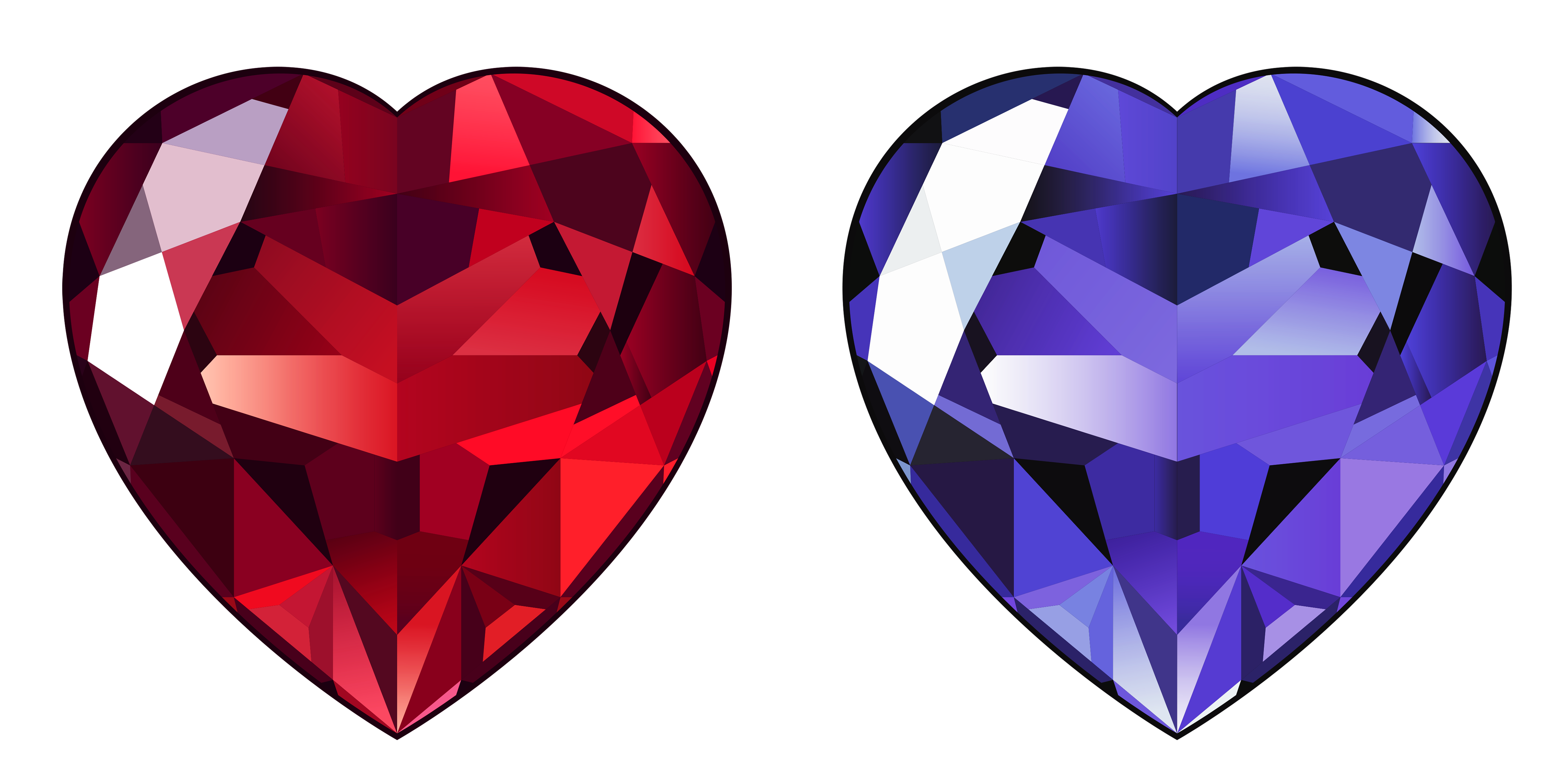 Diamond clipart png. Transparent hearts gallery yopriceville