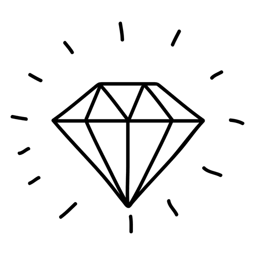 Diamond gem doodle transparent. Gems vector black and white clip art royalty free library