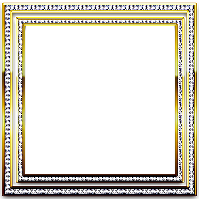 Diamond frame png. Gold and silver transparent