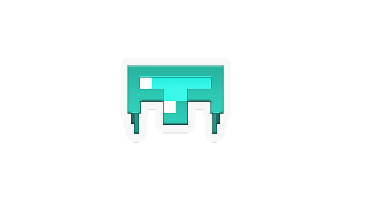 Minecraft helmet png. Stickers out now take
