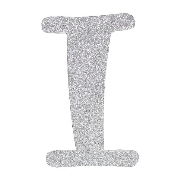 Diamond letters png. Letter i silver pc
