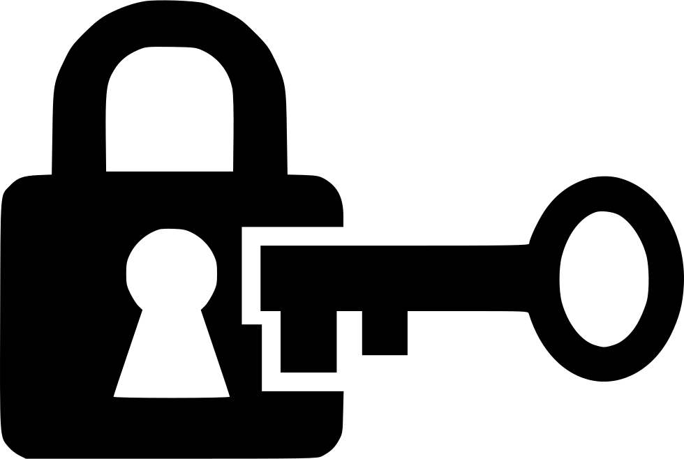 Lock and key png. Open svg icon free