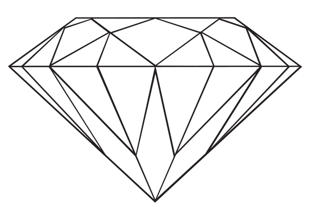 Drawing diamond. Collection of clipart