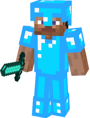 Diamond png minecraft. Image steve armor vs
