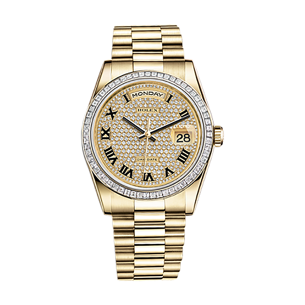 Diamond rolex png. Day date br gold