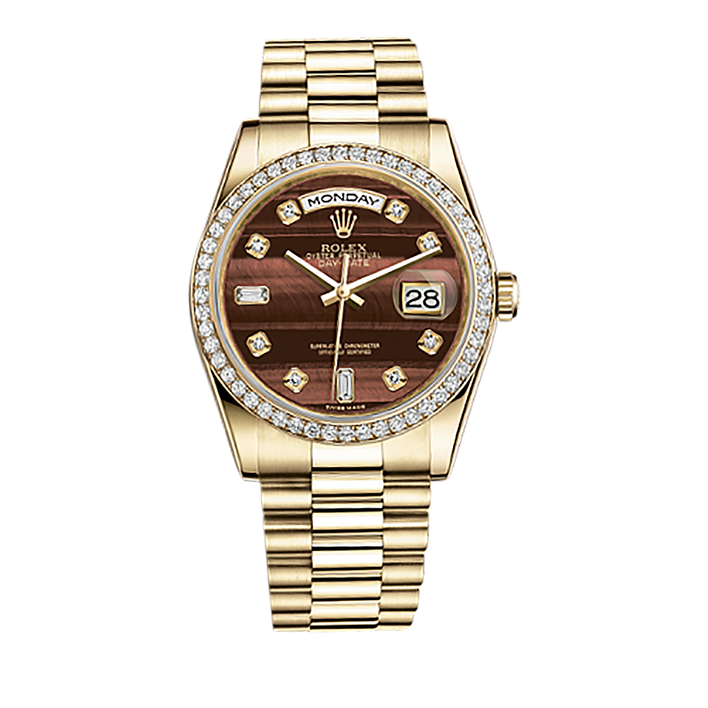 Diamond rolex png. Day date gold watch