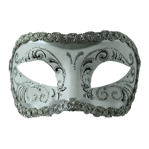 Diamonds and pearls masquerade ball mask png. Colombina white silver express