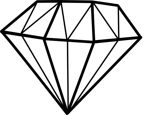 earring vector diamond