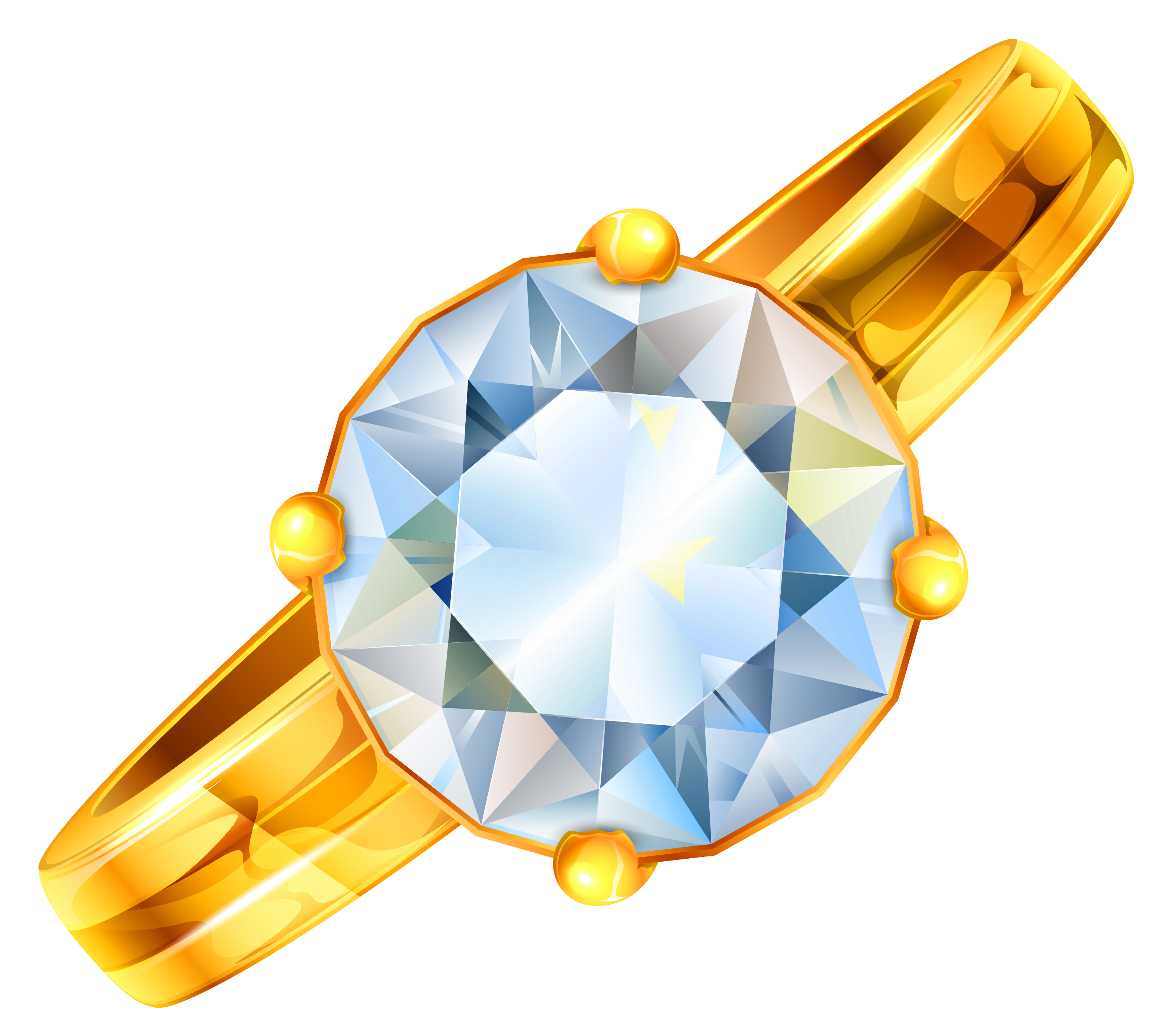 Gold diamond png. Ring with clipart gallery
