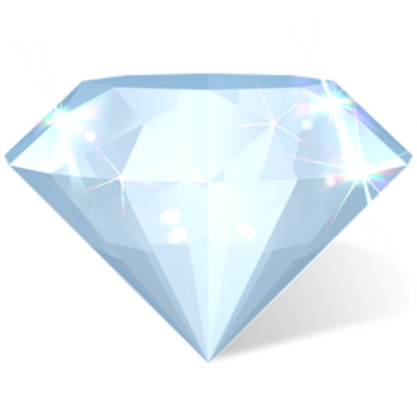 Rhinestone vector diamond