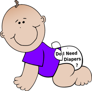 Baby Diapers Clip Art at Clker.com - vector clip art online, royalty ...