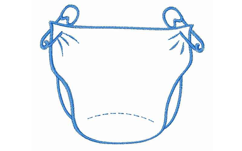Diaper clipart. Small change bank is