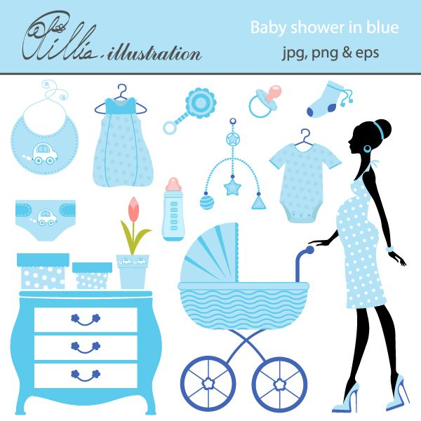This shower in blue. Diaper clipart baby boy bib clip free