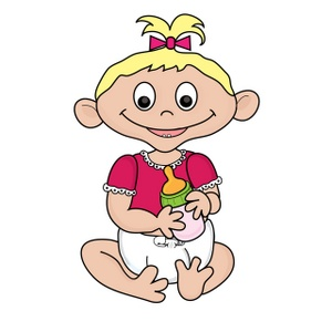 Diaper clipart cartoon little girl. Free baby image computer